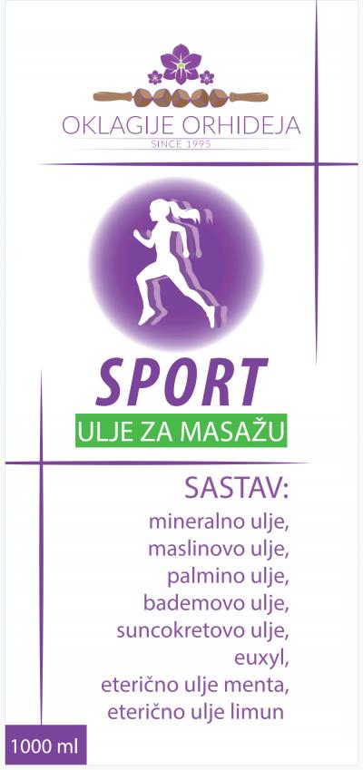 Sport ulje za masažu