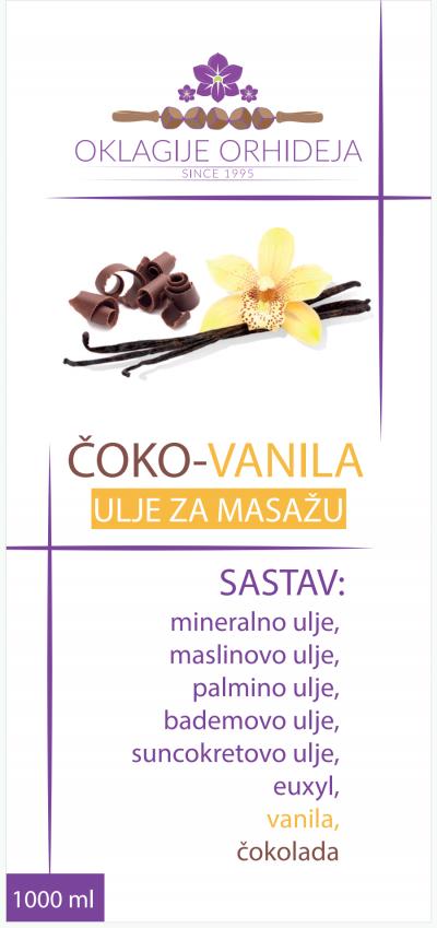 ČOKO-VANILA ulje za masažu